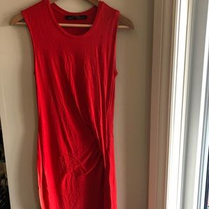 😇😇ALL SAINTS 4 red jersey dress